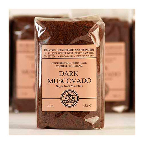 India Tree Dark Muscovado Sugar - 1 lb