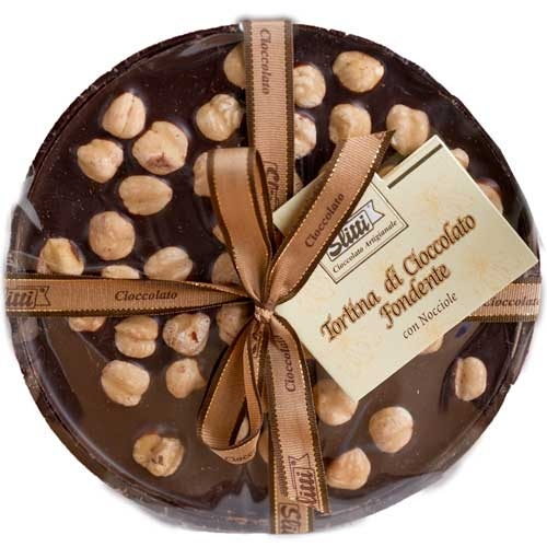 Slitti Dark Chocolate Disk With Hazelnuts