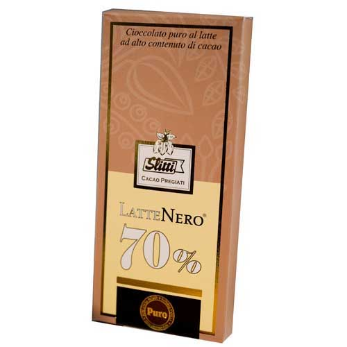 Slitti Lattenero Dark Milk 70% Chocolate Bar