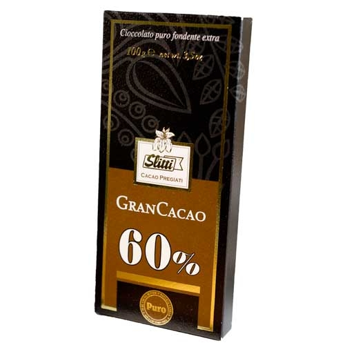Slitti Gran Cacao Dark Chocolate 60% Bar
