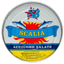 Scalia Anchovies - Salt-packed
