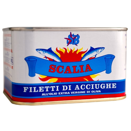Scalia Anchovy Fillets in Olive Oil (Tin) - Italy