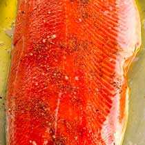 Copper River Sockeye Salmon - Fresh Wild - 10 lbs