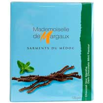 Dark Chocolate Twigs with Mint - Mademoiselle de Margaux
