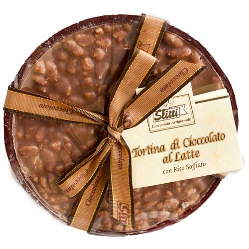 Slitti Milk Chocolate Disk with Rice - Small