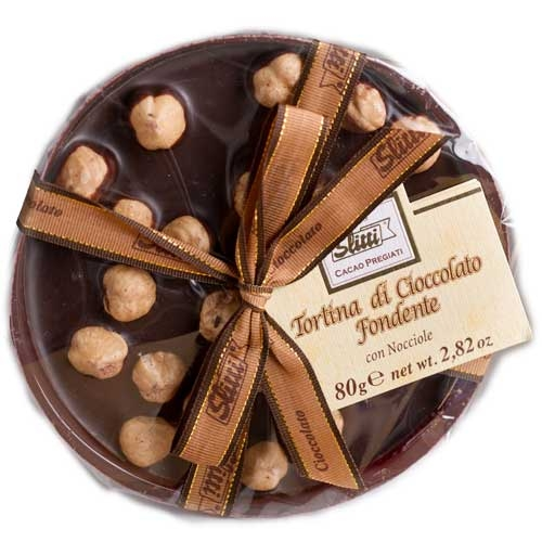 Slitti Dark Chocolate Disk with Hazelnuts - Small