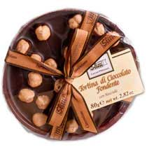 Dark Chocolate Disk with Hazelnuts - Sliltti - Small