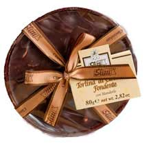 Dark Chocolate Disk with Almonds - Slitti - Small