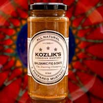 Kozliks Canadian Balsamic Fig & Date Mustard