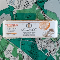 Brontedolci Almond Torrone with Candied Orange