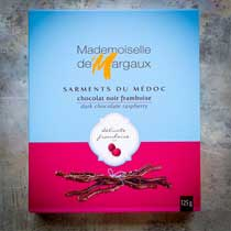 Dark Chocolate Twigs with Raspberry - Mademoiselle de Margaux