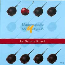 Chocolate Covered Cherries with Kirsch - Mdm' de Margaux - 16 piece box
