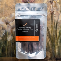 Dark Chocolate Covered Candied Orange Peel by Feve Chocolates