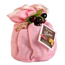 Flamigni Cherry and Chocolate Panettone in Burlap - small