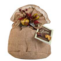 Flamigni Fig and Chocolate Panettone in Burlap - small