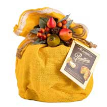 Flamigni Pear and Chocolate Panettone in Burlap - small