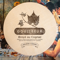 Goulibeur Broye du Poitou au Cognac (French Shortbread w. Cognac) in Wooden Box