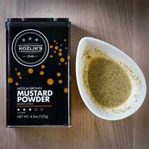 Kozliks Medium Brown Mustard Powder
