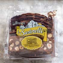 Sartorelli Chocolate Biscotti Cookies with Hazelnuts