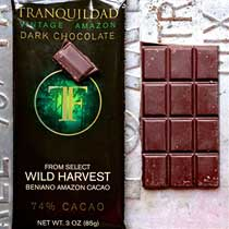 Tranquilidad Wild Harvest Beniano 74% Chocolate Bar
