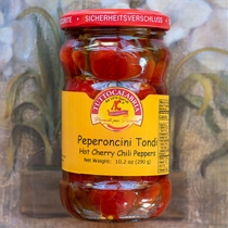 Tutto Calabria Hot Cherry Chili Peppers in Oil