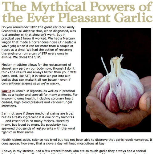 The Story of Great Garlic - Article