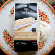 Biancoperla Stone Ground White Corn Polenta