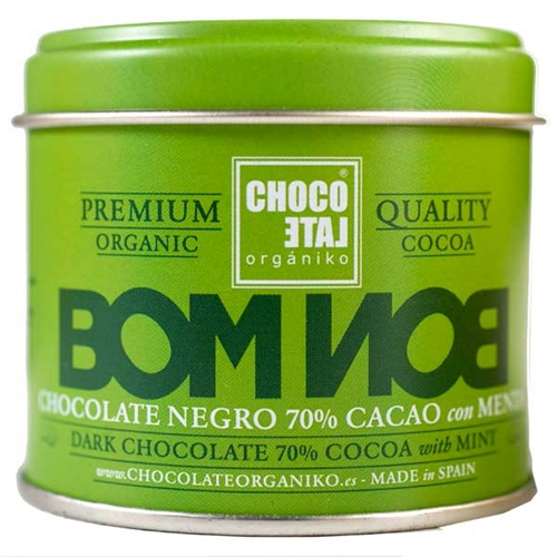Chocolate Organic Dark Chocolate with Mint Bon Bons