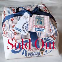 Cova Panettone with Fabbri Amarena Cherries