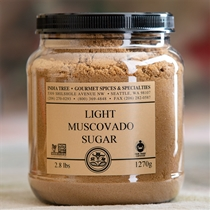 India Tree Light Muscovado Sugar - 1 lb