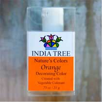 India Tree Natures Colors Orange Decorating Color