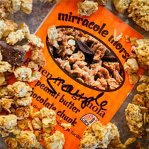 Mirracole Morsels Peanut Butter Chocolate Chunk Granola - Gluten Free