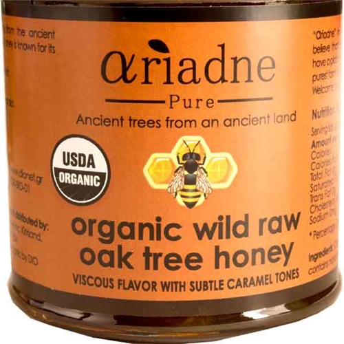 Organic Wild Oak Tree Honey