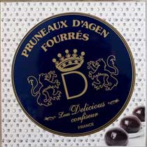 Coufidou les Caprices Agen Prunes with Prune Mousse
