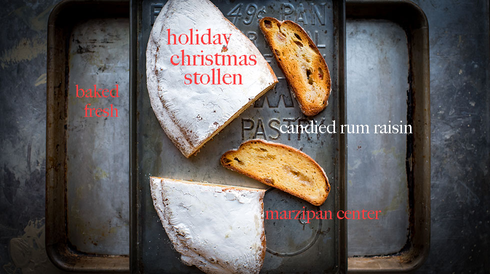 Fresh Stollen Marzipan center