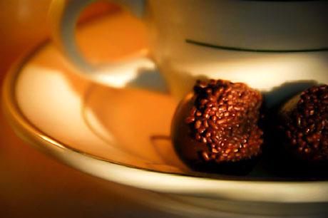 Cherries in Armagnac in Chocolate