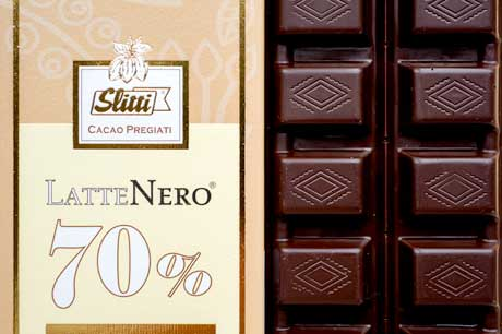 Slitti Latte Nero Milk Chocolate Bar 70%