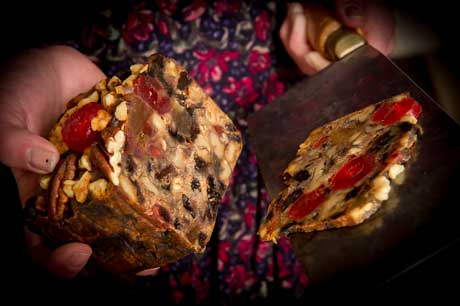 Thinly Sliced Trappist Abbey Fruitcake
