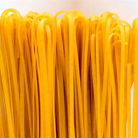 morelli wheat germ linguine pasta with saffron from chefshop com