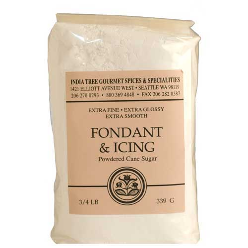 India Tree Powdered Fondant & Icing  SUGAR - 3/4 LB