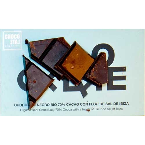 ChocoLate Organic Dark with Fleur de Sel of Ibiza