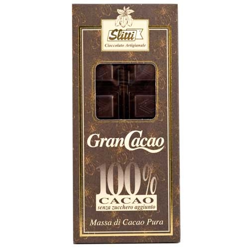 Slitti Gran Cacao Dark Chocolate 100% Bar