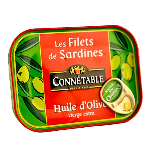 Connetable Sardines in E.V. Olive Oil - France