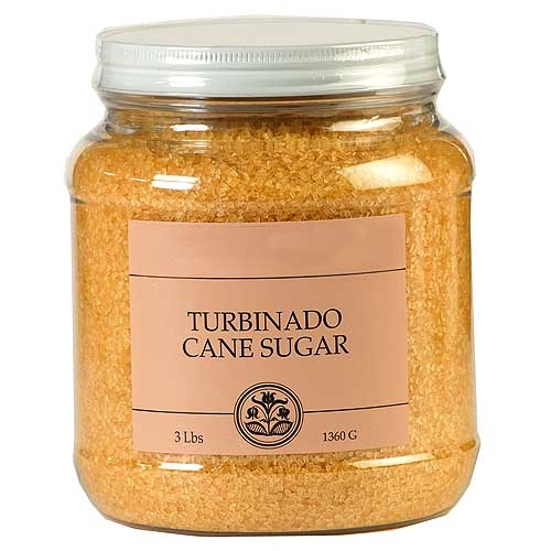 India Tree Turbinado Sugar - 3-lb tub