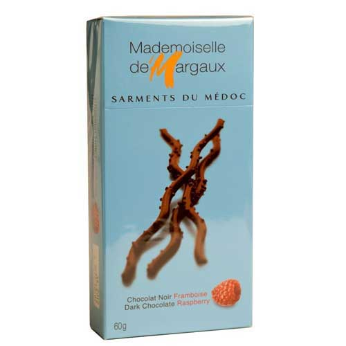 Dark Chocolate Twigs with Raspberry - small - Mademoiselle de Margaux