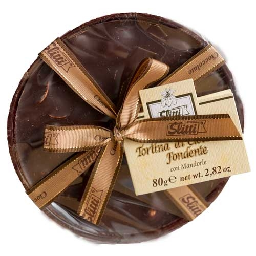 Slitti Dark Chocolate Disk with Almonds - Small