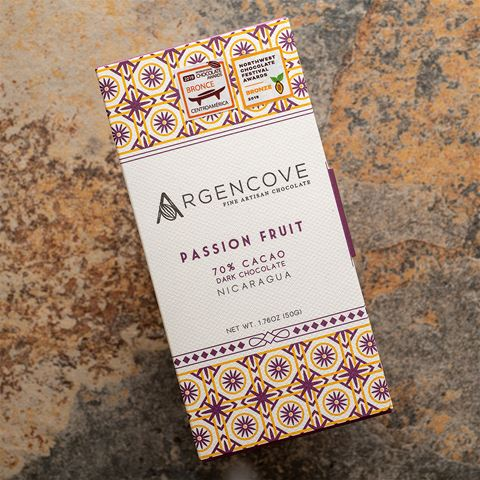 Argencove Passion Fruit Dark Chocolate Bar