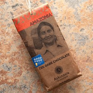 Askinosie Zamora Amazonia 72-Percent Dark Chocolate Bar