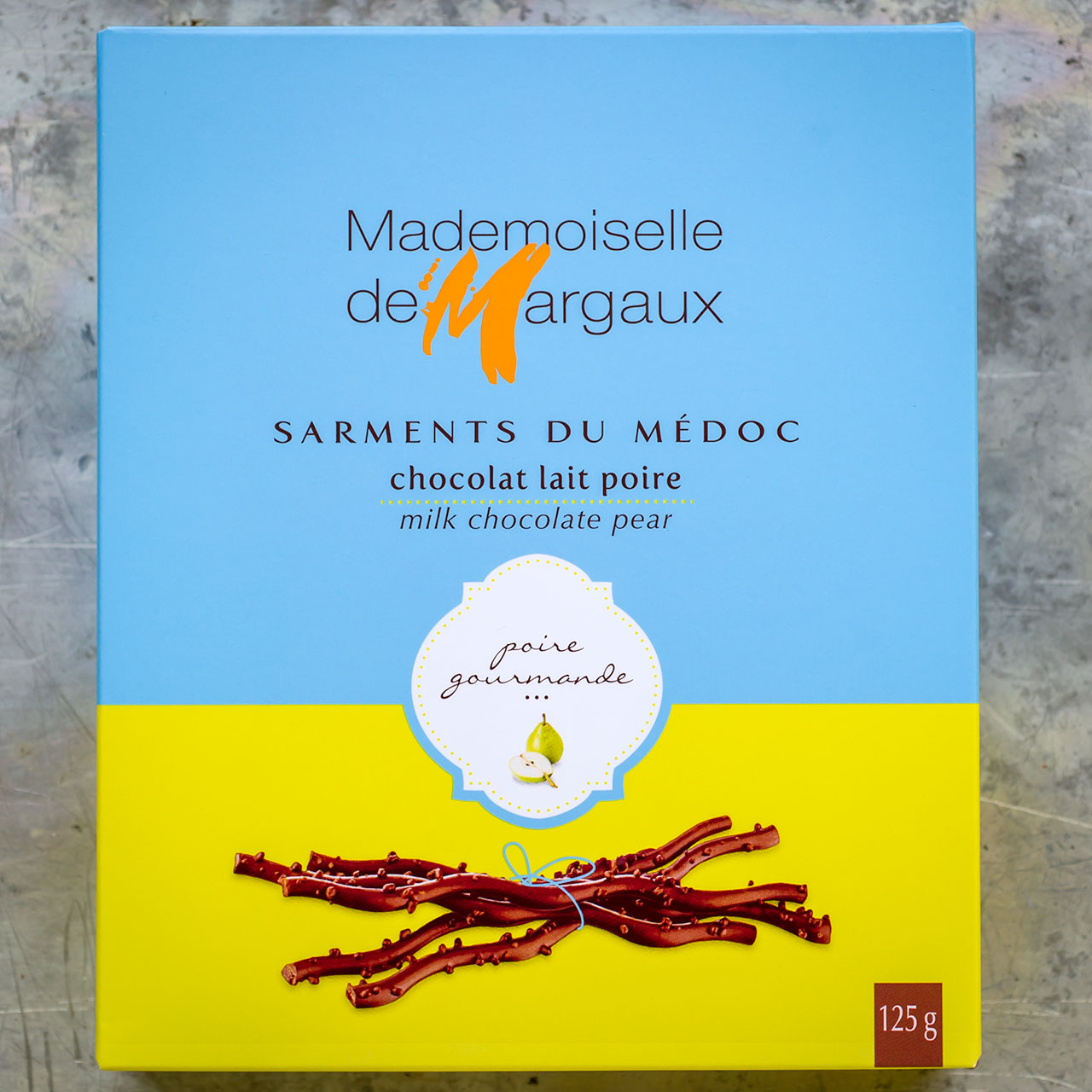 Milk Chocolate Twigs with Pear - Mademoiselle de Margaux