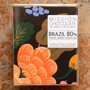 Mission Chocolate Brazil 80-Percent Dark Bar